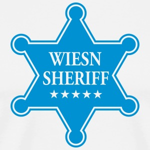 Wiesn Sheriff Star, Oktoberfest, Bavaria, Munich T - Men's Premium T-Shirt