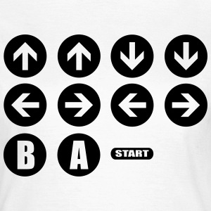 Game Cheat Code  T-shirts - Dame-T-shirt