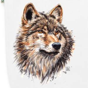 White Wolf Painting Bags & Backpacks - EarthPositive Tote Bag