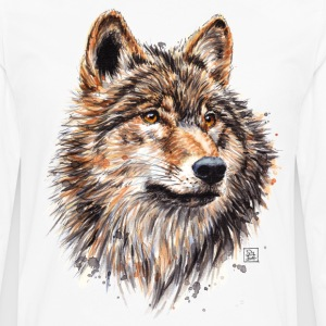 White Wolf Painting Long sleeve shirts - Men's Premium Longsleeve Shirt