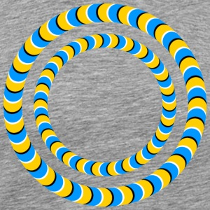 Optical illusion, Rotating tires, phenomenon T-Shirts - Men's Premium T-Shirt