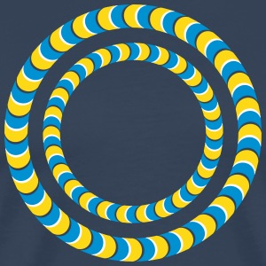 Optical illusion, Rotating tires, phenomenon Tee shirts - T-shirt Premium Homme