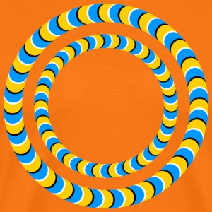 Optical illusion, Rotating tires, phenomenon T-shirts - Mannen Premium T-shirt