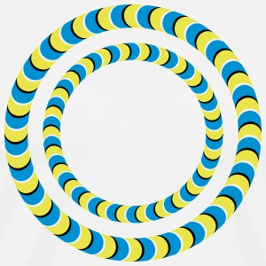 Optical illusion, Rotating tires, phenomenon T-Shirts - Männer Premium T-Shirt