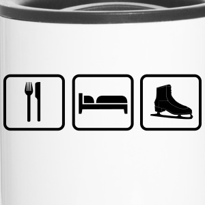 Eat Sleep Schlittschuh, Eat Sleep Schlittschlaufen Botellas y tazas - Taza termo
