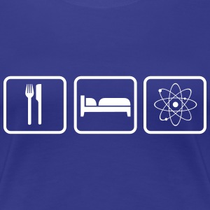 Eat Sleep Science T-shirts - Dame premium T-shirt