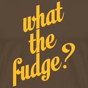 What the fudge T-shirts - Mannen Premium T-shirt