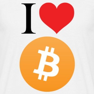 I love Bitcoin t-shirt - Men's T-Shirt