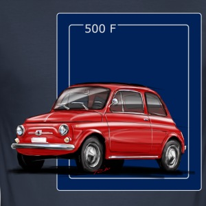 Fiat 500 red-blue Shirt.png T-shirts - Herre Slim Fit T-Shirt