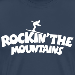 Rockin' the Mountains Ski T-Shirt (Herren) - Männer Premium T-Shirt