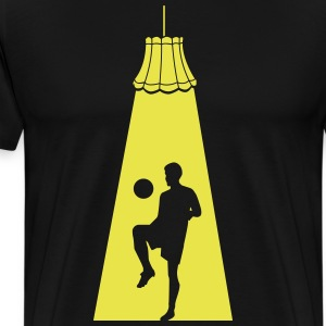Football players in the spotlight T-Shirts - Men's Premium T-Shirt