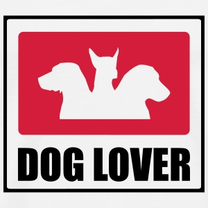 Dog Lover T-skjorter - Premium T-skjorte for menn