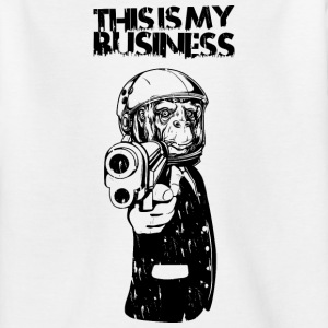 Monkey with gun and business suit Shirts - Teenage T-shirt