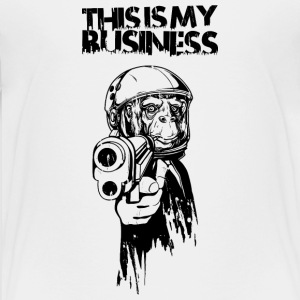 Monkey with gun and business suit Shirts - Teenager Premium T-shirt