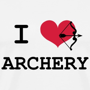 I Love Archery T-Shirts - Men's Premium T-Shirt