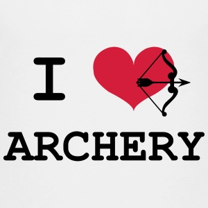 I Love Archery Shirts - Teenage Premium T-Shirt