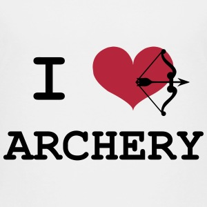 I Love Archery T-Shirts - Kinder Premium T-Shirt
