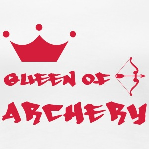 Queen of Archery  T-shirts - Dame premium T-shirt