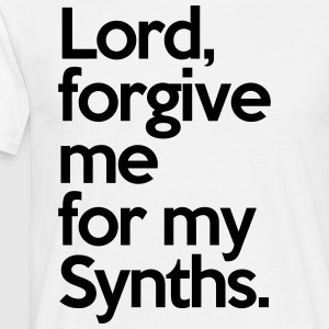 Lord Forgive Me Synths  T-skjorter - T-skjorte for menn