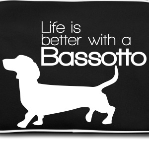 Life is better with a Bassotto Borse & zaini - Borsa retrò