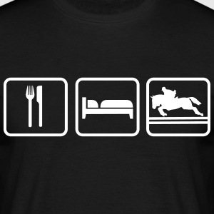 Eat Sleep Springreiten, Eat Sleep Show Jumping T-Shirts - Männer T-Shirt