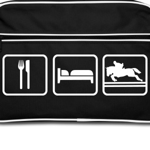 Eat Sleep Springreiten, Eat Sleep Show Jumping Bags & Backpacks - Retro Bag