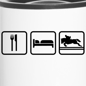 Eat Sleep Springreiten, Eat Sleep Show Jumping Bottles & Mugs - Travel Mug