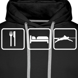 Eat Sleep Swim, Eat Sleep Swimming Hoodies & Sweatshirts - Men's Premium Hoodie