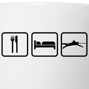 Eat Sleep Swim, Eat Sleep Swimming Botellas y tazas - Taza