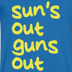 SUNS OUT GUNS OUT T-Shirts - Men's V-Neck T-Shirt