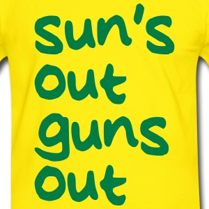SUNS OUT GUNS OUT T-Shirts - Men's Ringer Shirt