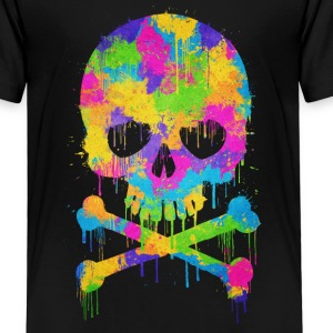 Trendy & Cool Abstract Graffiti Skull  T-shirts - Premium-T-shirt barn