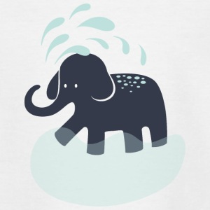 Elephant refreshes itself Shirts - Kids' T-Shirt