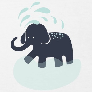 Elephant refreshes itself Shirts - Kids' Organic T-shirt