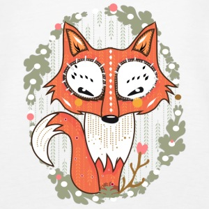 Wit a small fox in the forest Tops - Vrouwen Premium tank top