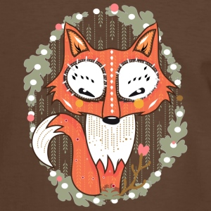 a small fox in the forest  T-Shirts - Men's Ringer Shirt