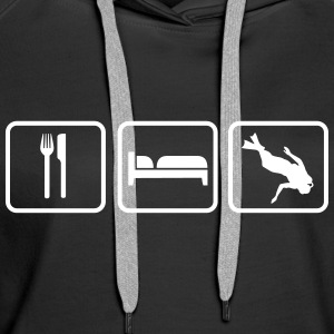 Eat Sleep Tauchen, Eat Sleep Diving Hoodies & Sweatshirts - Women's Premium Hoodie