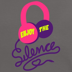 enjoy the silence - headphones music - Frauen Kontrast-T-Shirt