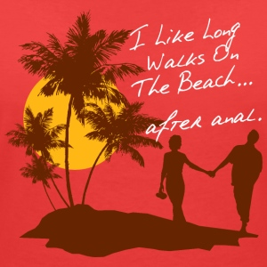 BEACH WALKS AFTER ANAL - Frauen T-Shirt mit V-Ausschnitt