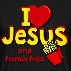 I LOVE JESUS AND FRENCH FRIES - Männer T-Shirt
