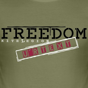 freedom_x_vec_3 en T-Shirts - Men's Slim Fit T-Shirt