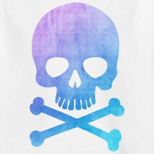 Trendy & Cool Water Color Hipster Skull / Art Skjorter - T-skjorte for tenåringer