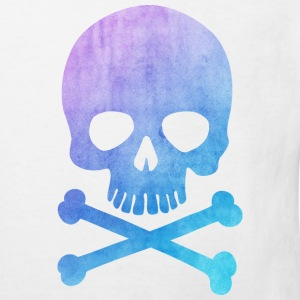 Trendy & Cool Water Color Hipster Skull / Art Shirts - Kids' Organic T-shirt