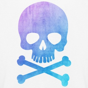 Trendy & Cool Water Color Hipster Skull / Art Långärmade T-shirts - Långärmad premium-T-shirt barn
