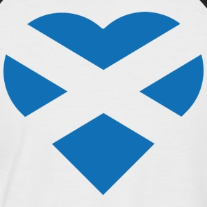The Flag of Scotland heart t-shirt - Men's Baseball T-Shirt
