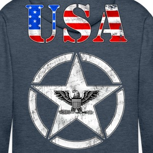 usa army grunge style Sweat-shirts - Sweat-shirt à capuche Premium pour hommes