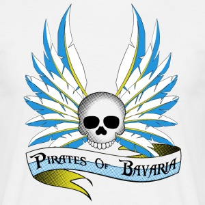Pirates of Bavaria for white shirts. - Männer T-Shirt