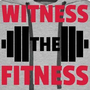 Witness The Fitness Barbell  Sweaters - Mannen Premium hoodie