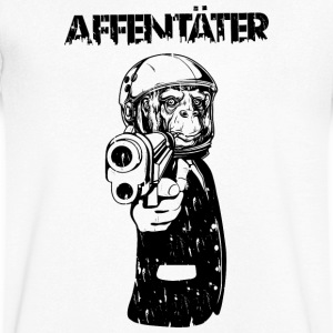 affentäter T-Shirts - Men's V-Neck T-Shirt