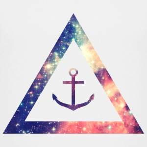 Galaxy / universe / hipster triangle with anchor Shirts - Teenage Premium T-Shirt